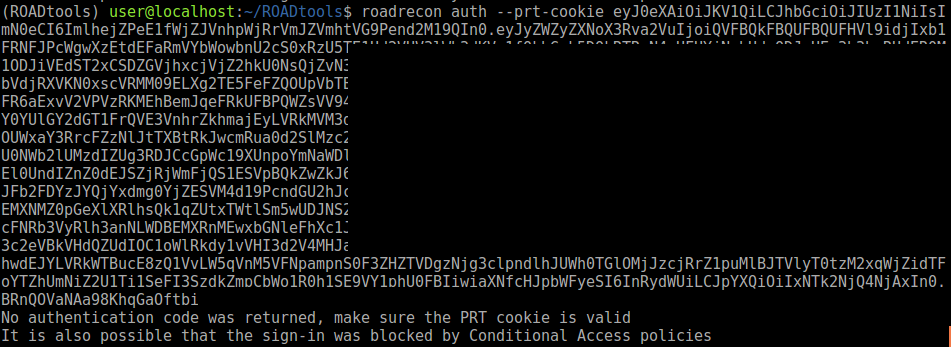 ROADrecon auth with expired PRT cookie